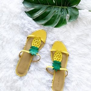 Talbots | Pineapple Keri T-Strap Sandals (altered)